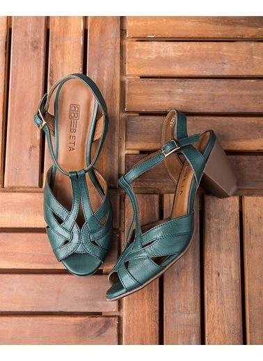 Beta Topuklu Ayakkabı Yeşil